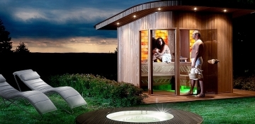 Classic style outdoor sauna