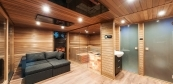 Combined sauna house