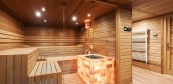Combined sauna with bath