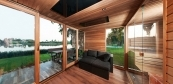 Comfort heated sauna house