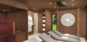 Exclusive wellness sauna house