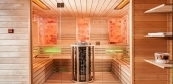Finnish sauna and infrared sauna in one