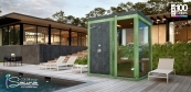 Garden sauna with shower
