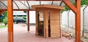 Outdoor sauna upon individual ideas