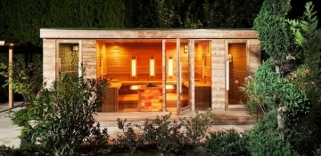 Premium sauna house with wellness terrace