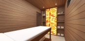 Sauna house with massage room