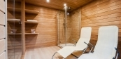 Sauna house with relax area