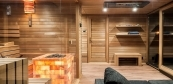 Wellness house with combined sauna